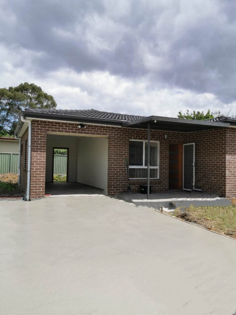 2 bedrooms granny flat in lidcombe close to train station