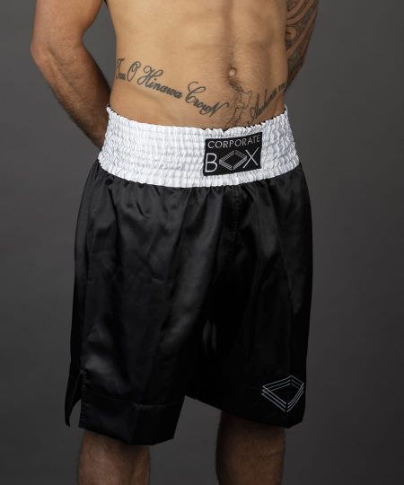 corporate box black boxing shorts