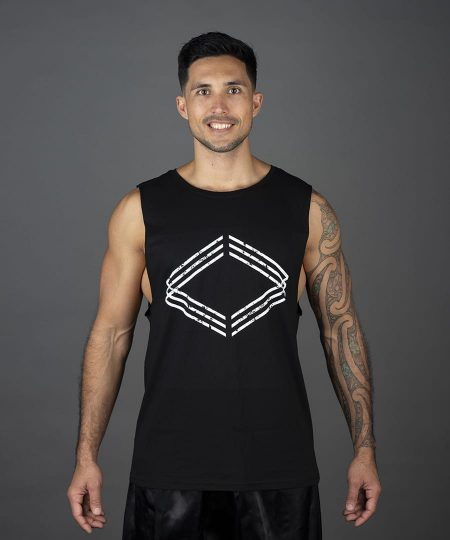 corporate box singlet black