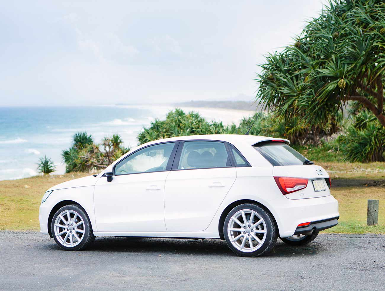 Hire at Audi A1 to explore the coast