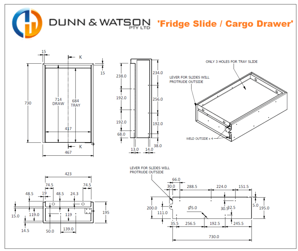 combo drawer cad