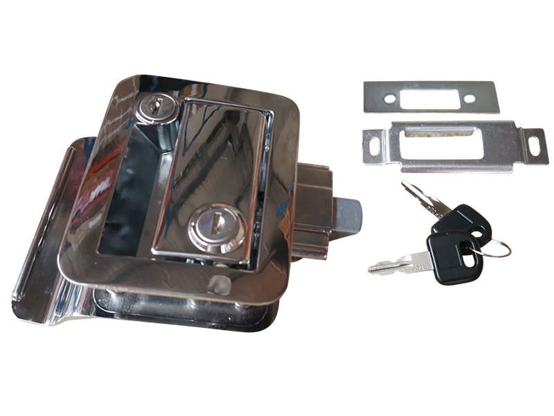 Trailer Door Lock Chrome 1