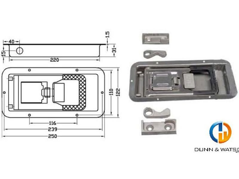 Recessed Cam Kit Stainless Steel 1
