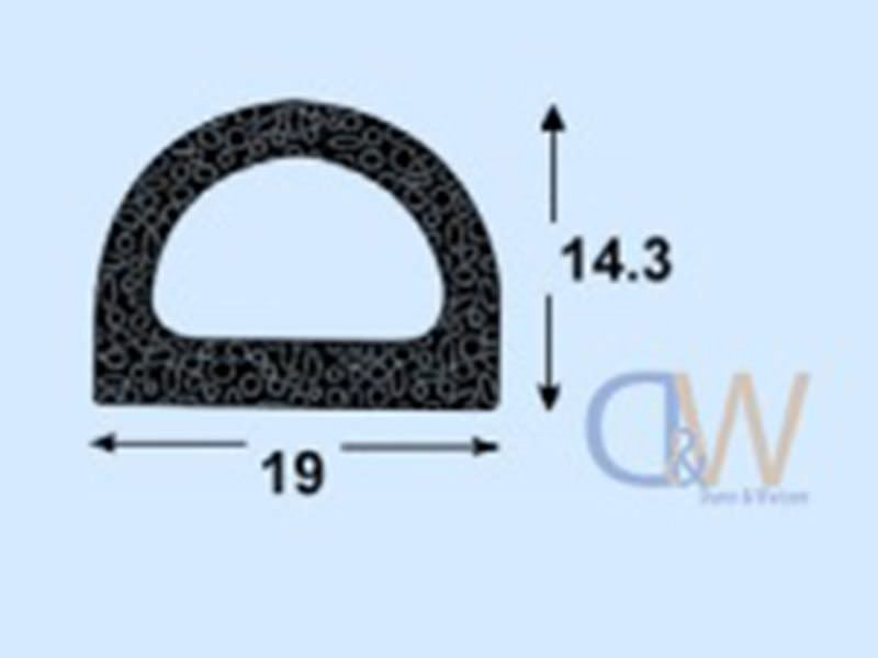Self Adhesive D Seal Rubber Large 1