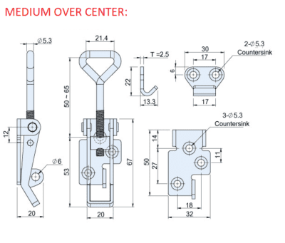 MEDIUM OVER CENTER CAD